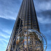 Part of my photo walk this day , I passed by Trump tower international on central park west . I love the Globe art in front . . I tried to center the building but had a news stand to left of me so this was as close to center .