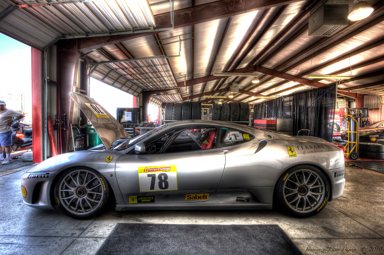 One of the Ferrari Challenge cars at New Jersey Motor Sports Sports Park ,
